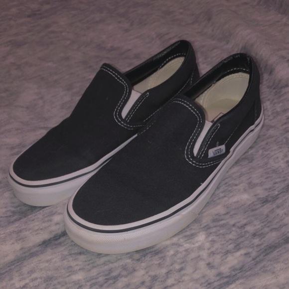 Vans Shoes | Black Slip On Vans Size 6